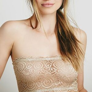 NWT Free People seamless lace nude bandeau